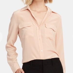 Equipment Slim Signature Blouse in French Nude